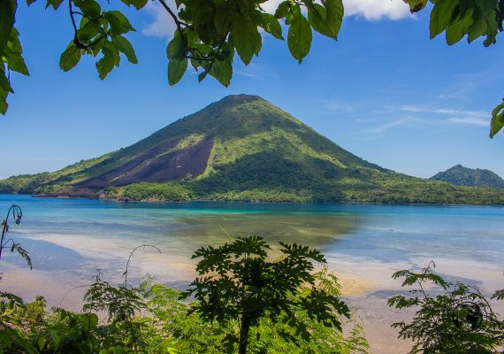 Guning Api as seen from banda besar viewpoint, Spicing it up at the Banda Islands Maluku Indonesia
