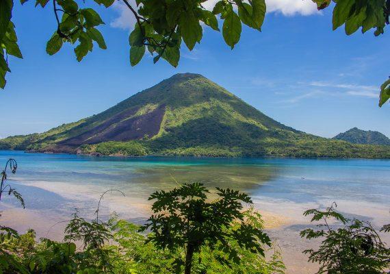 Guning Api as seen from banda besar viewpoint, Spicing it up at the Banda Islands Maluku Indonesia