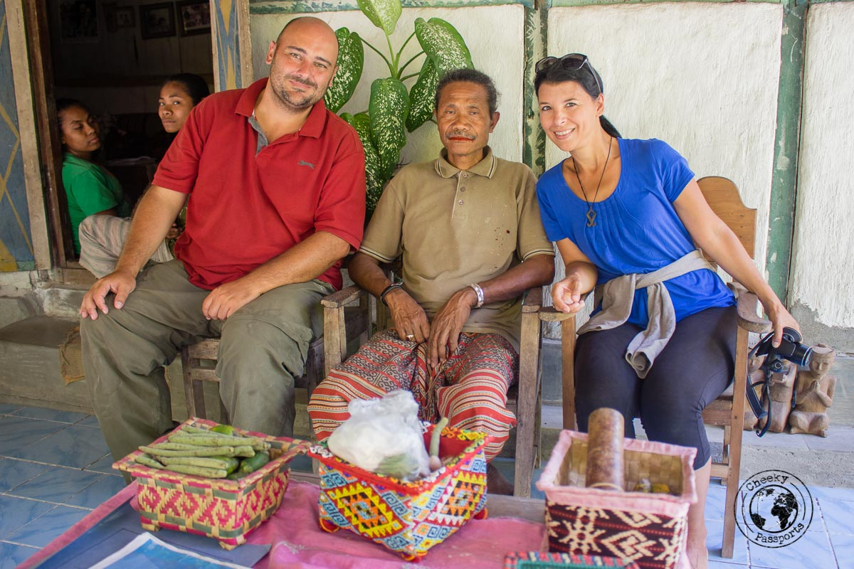 Meeting the king of Boti whilst exploring West Timor, Indonesia. An authentic king of an Indonesian tribe.