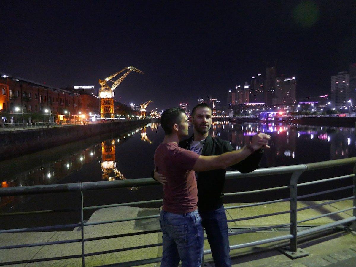 Nomadic Boys tango in Puerto Madero Buenos Aires - Most Romantic Destinations