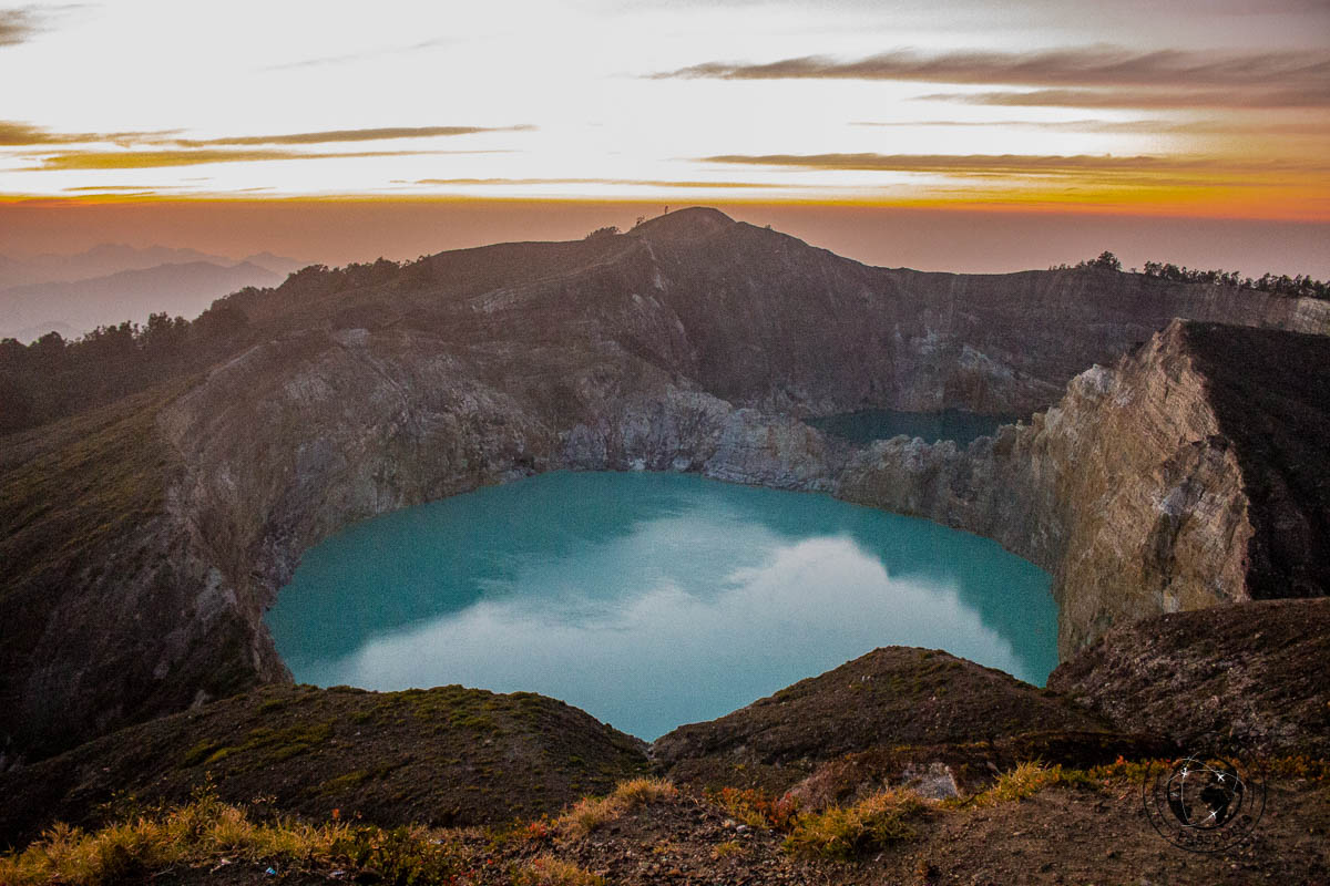 Sunrise at mount Kelimutu -travelling across Flores island Indonesia