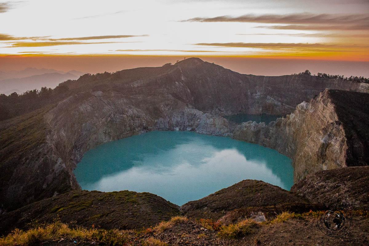 Sunrise at mount Kelimutu -travelling across Flores island Indonesia