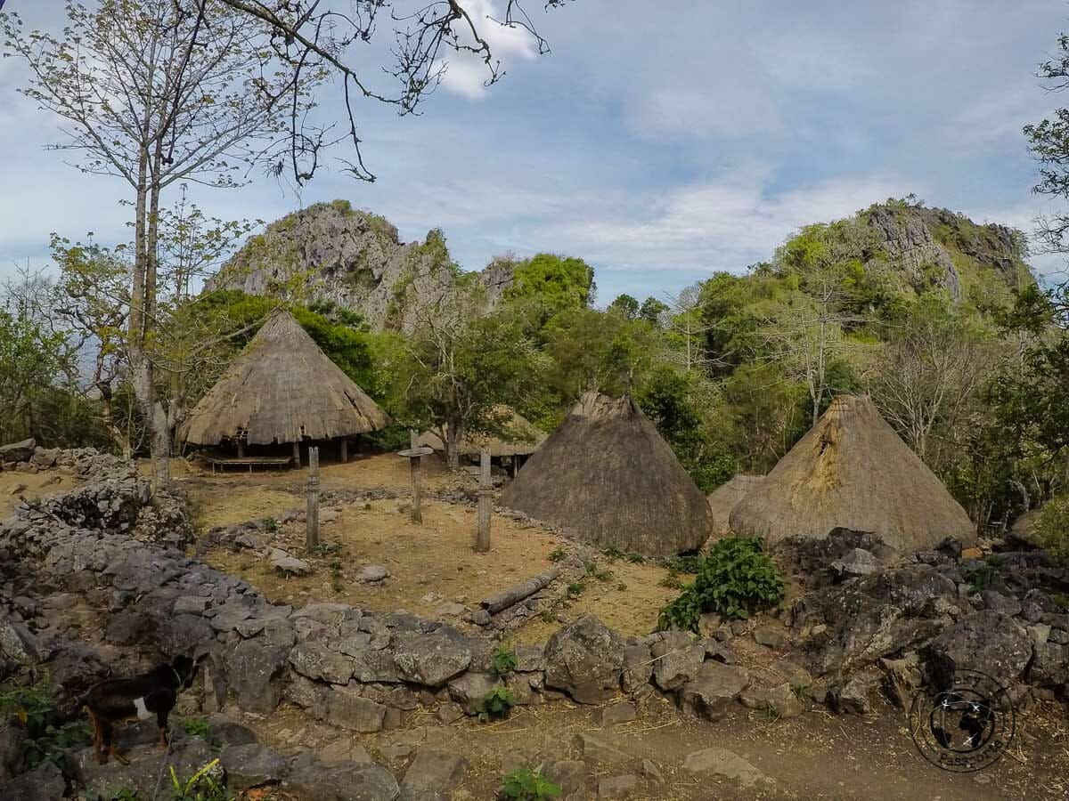Tamkesi village with the backdrop of the sacred mountain. West Timor Travel