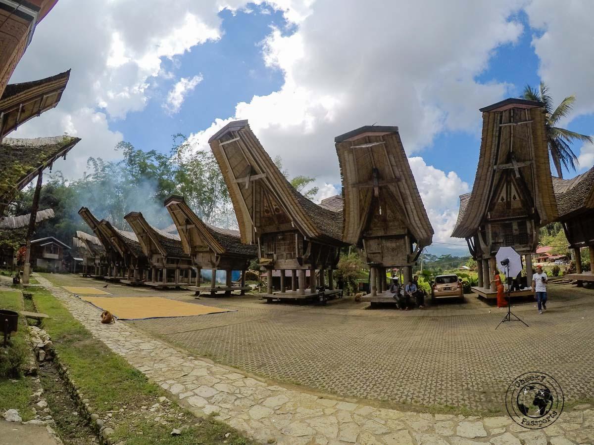 The Tongkonan at Ketu Kese, Rantepao in Tana Toraja, Indonesia