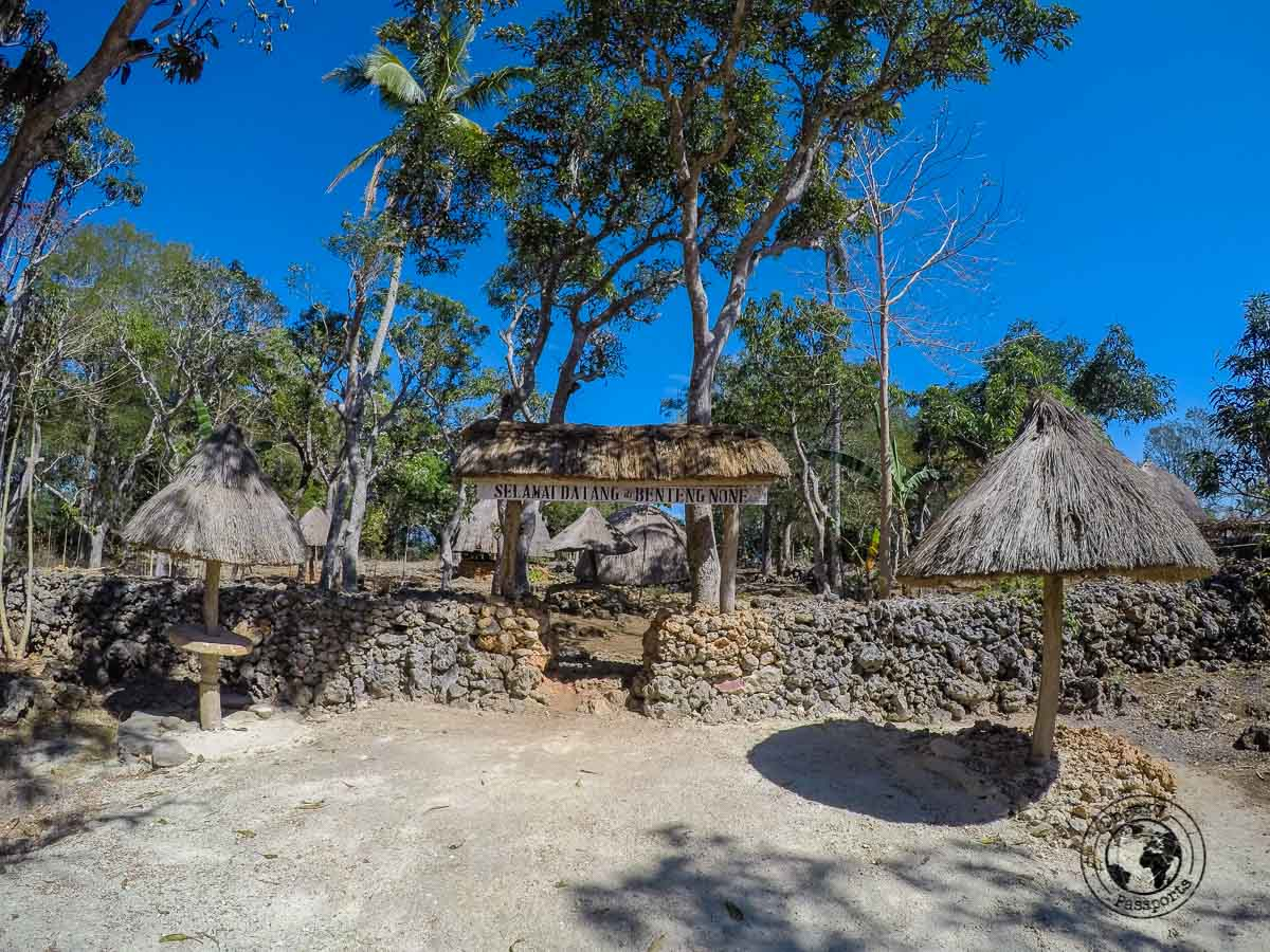 The joys of west timor travel. The entrance to the village of None which we visited whilst exploring west timor, indonesia