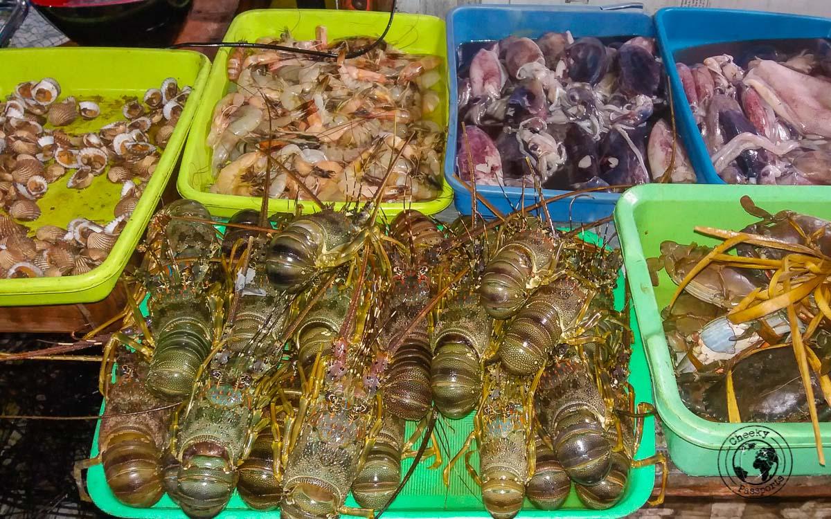 The night fish market in Kupang