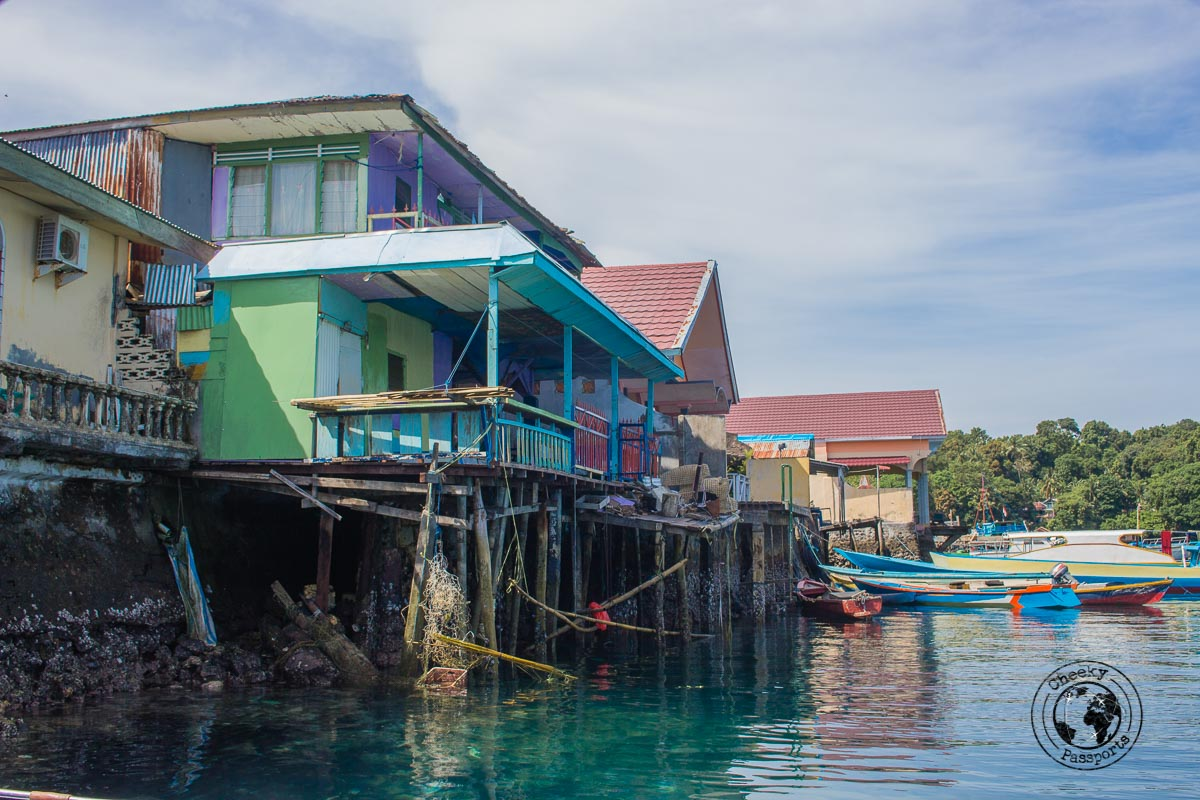 The quay at bandaneira - Way to collect the nutmeg - Spicing it up at the Banda Islands Maluku Indonesia