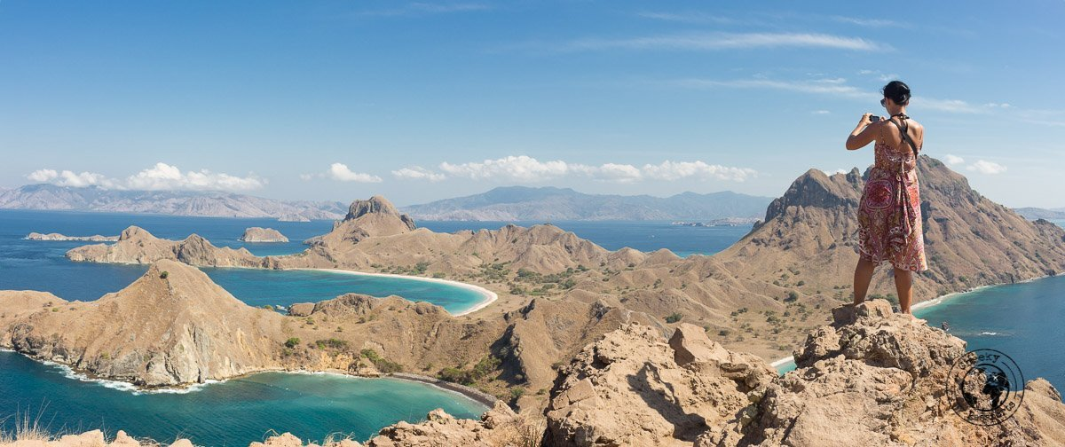 The view on top of Padar Island, Komodo National Park - traveling accross flores island indonesia