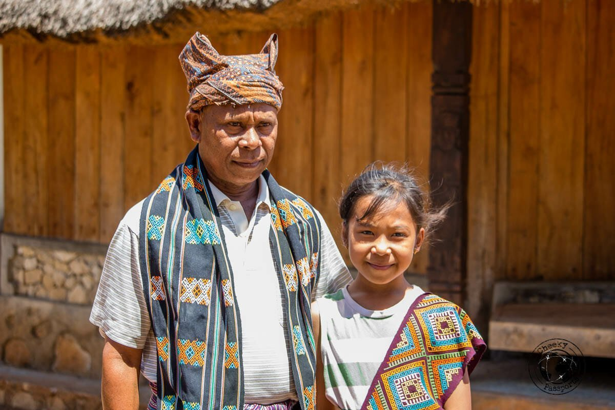 The village chief of Maubesi and his neice which we met whilst exploring west timor, indonesia. Understanding the Indonesian tribes.