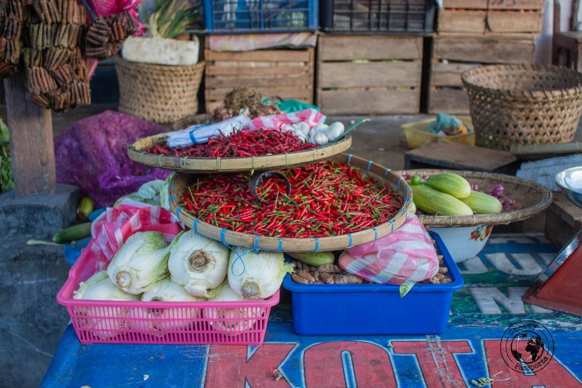 The village market of Bandaneira selling spices in Banda Islands, Maluku