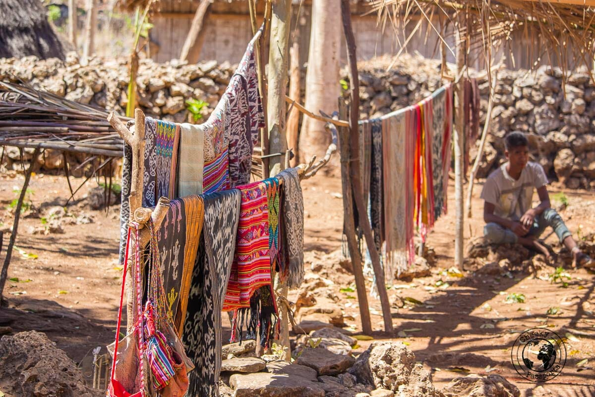 The village of Boti seen whilst exploring west timor, indonesia. . West Timor Travel