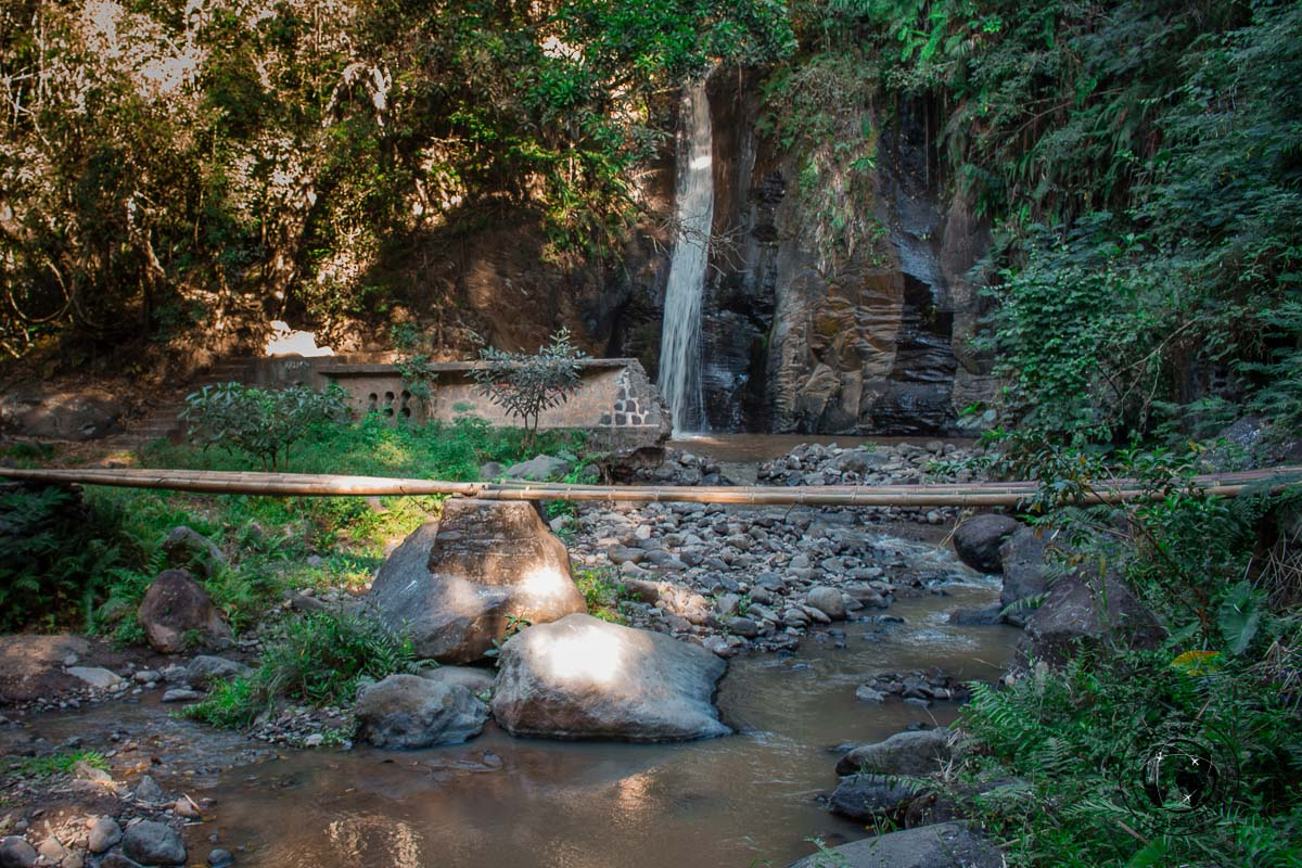 The waterfall near Moni Town - travelling across Flores island Indonesia