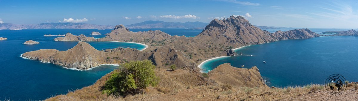 View on top of Padar Island - diving in Komodo and traveling in Flores