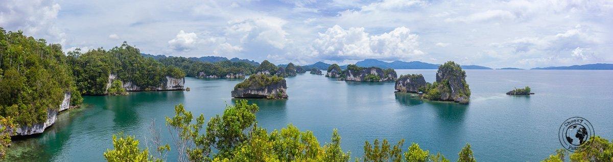 Wajag viewpoint in Raja Ampat, Papua