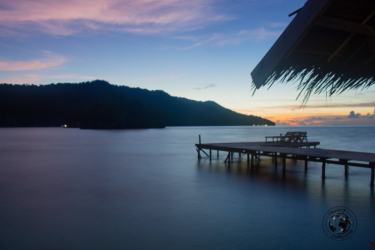 a calm afternoon in Pulau Kri, Raja Ampat on a budget