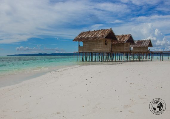 beach hut homestays are always a good idea in pulau kri, Raja Ampat on a budget