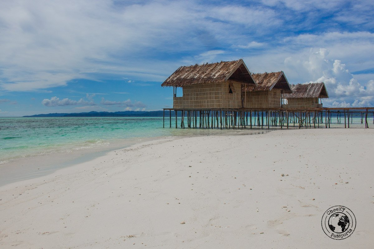 Beach hut homestays are always a good idea in Raja Ampat to lower your travel expenses in Indonesia