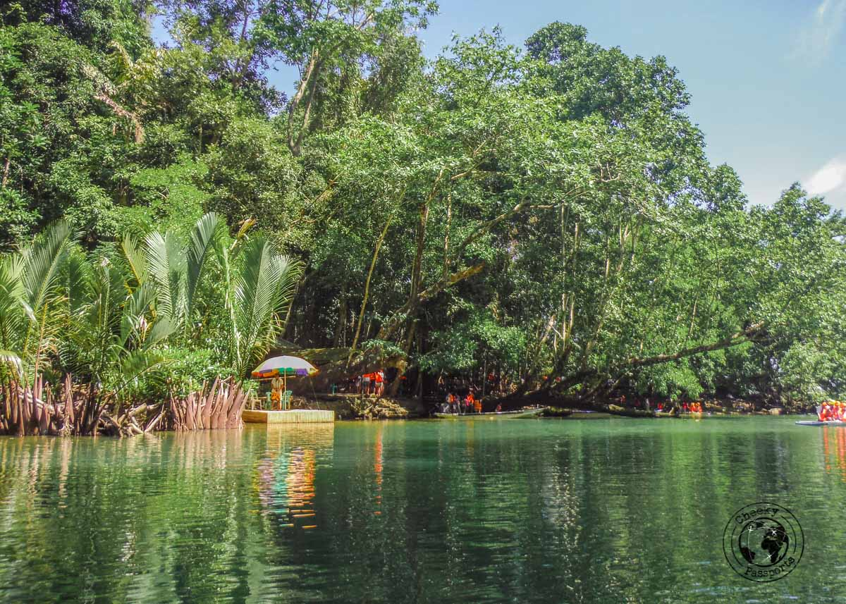 the lagoon at entrance to the Puerto Princesa Underground River Tour Do It Yourself