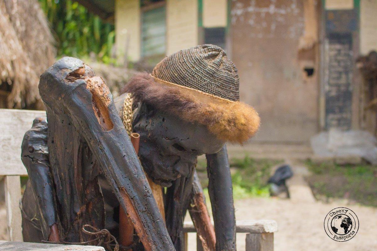 Closeup of the Aikima village mummy, Baliem Valley, Papua