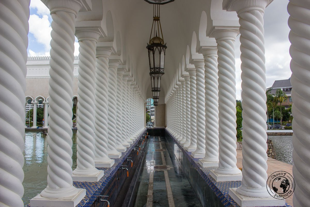 Corridor at the Mosque - tourist spots in Brunei