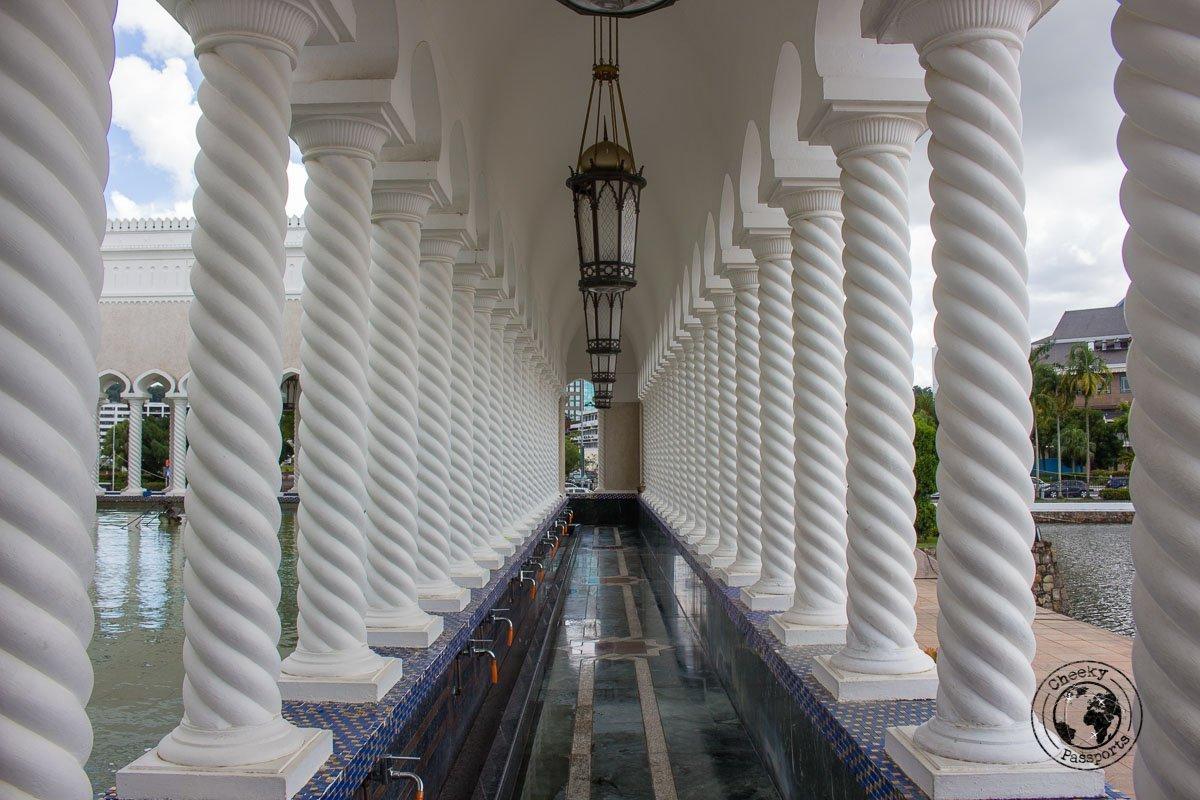 Corridor at the Mosque - tourist spots in Brunei