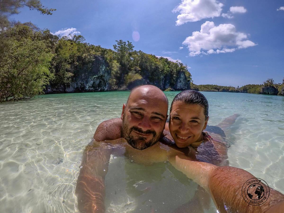 Enjoying a swin at bair island whilst exploring the kei islands of malukku