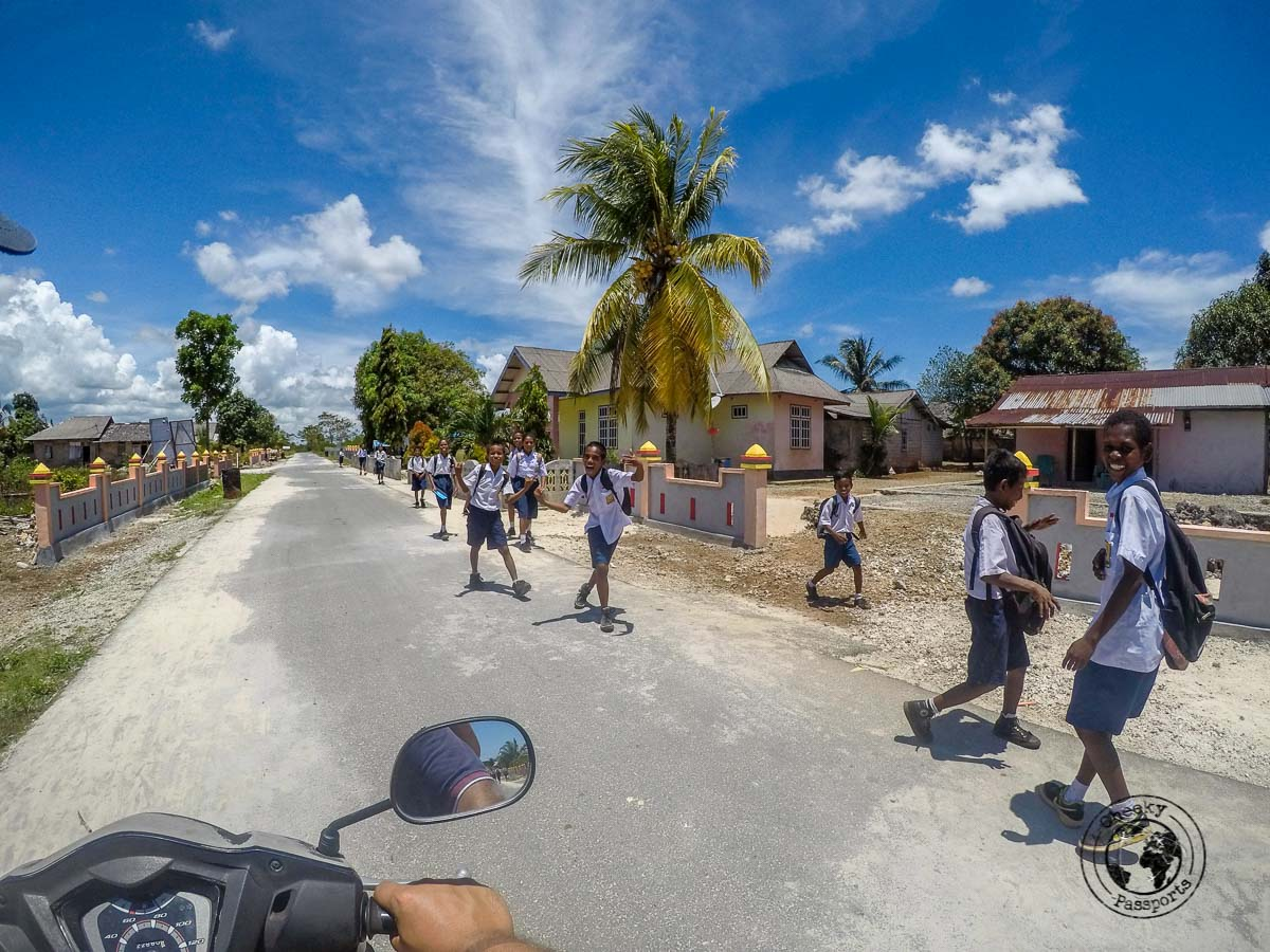 Exploring the Kei islands on a scooter