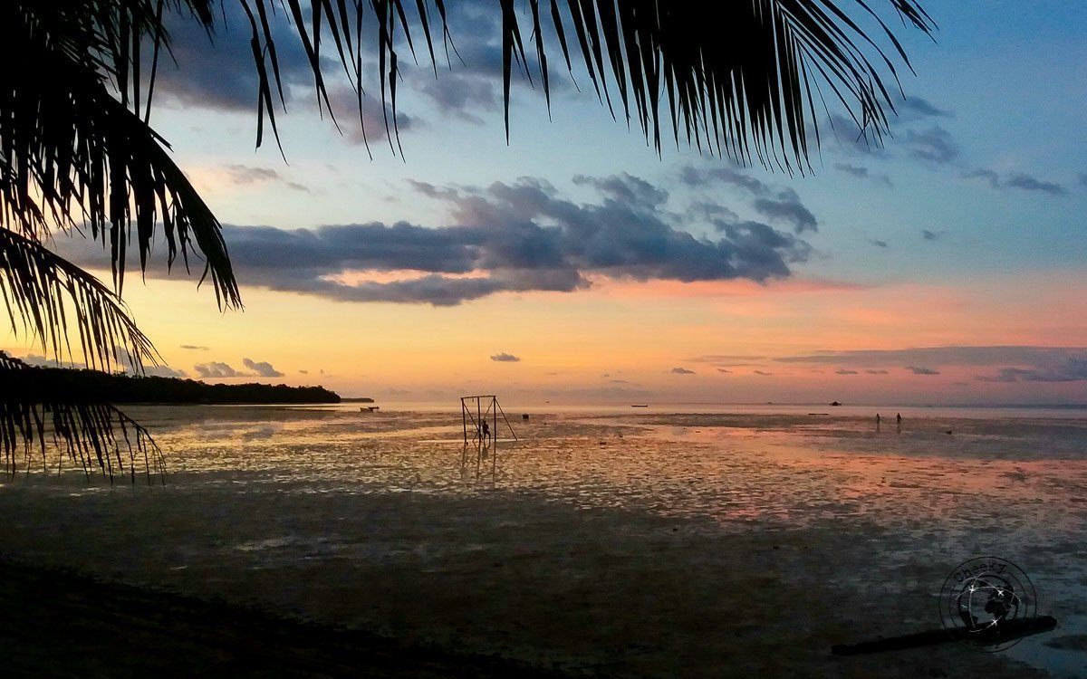 Sunset over Ohoidertawun beach in Kei Kecil