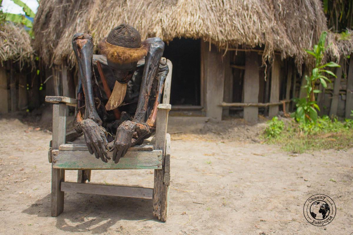 The Aikima village mummy, Baliem Valley Papua