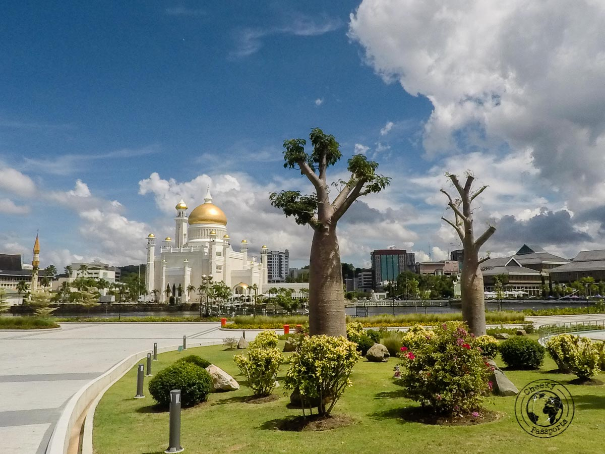 The garden around Sultan Omar Ali Saifuddin Mosque - Things to do in Brunei