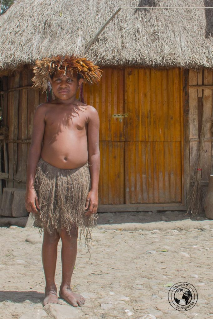 Tradtional children clothing in the baliem valley