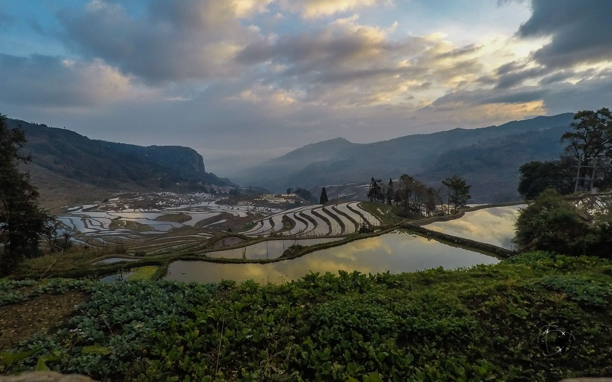 Duoyishu Rice Terraces at sunrise - How to visit the Yuanyang Rice Terraces, Yunnan, China