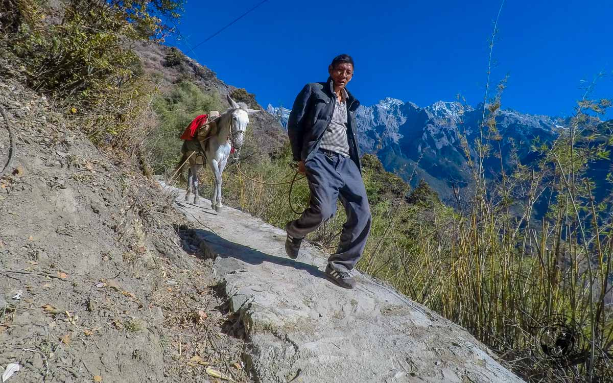 Local encounters at the 28 bends whilst hiking Tiger leaping gorge
