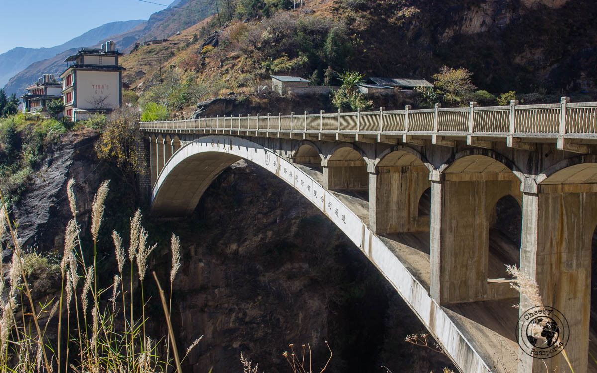 The bridge near Tina's guesthouse - Your Guide to hiking Tiger Leaping Gorge