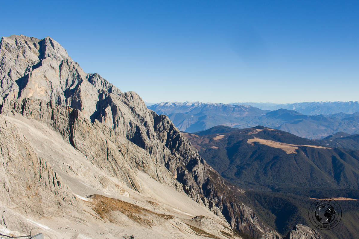 A view from the top of the Jade Dragon snow mountain