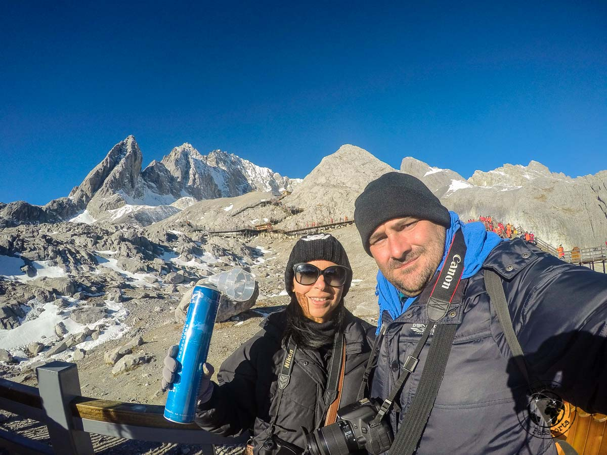 On top of the Jade Dragon Snow Mountain