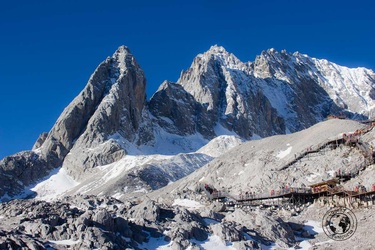 View of the Jade Dragon Snow Mountain