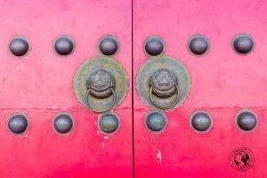Characteristic door knobs in Dali, Yunnan, China