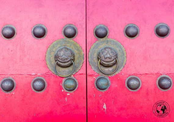 Characteristic door knobs in Dali, Yunnan, China