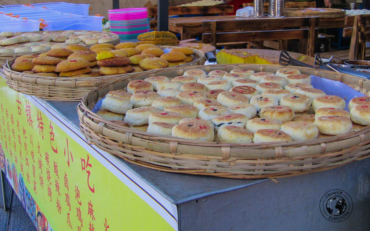 Flower cakes (rose petal) - Lijiang attractions, Yunnan, China