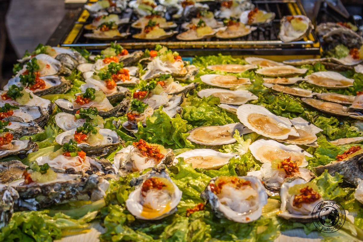 Food is plentiful in the many Lijiang food stalls - Lijiang attractions, Yunnan, China
