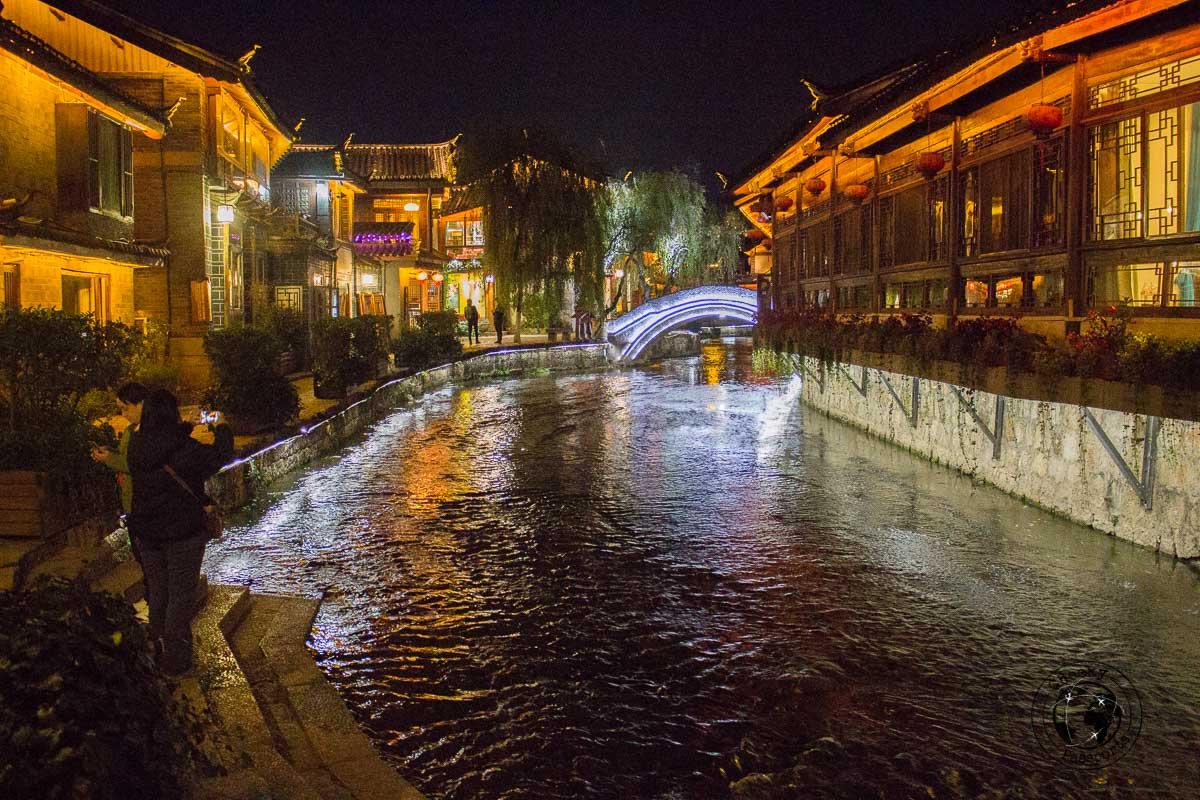 Lijiang at night - Lijiang attractions, Yunnan, China