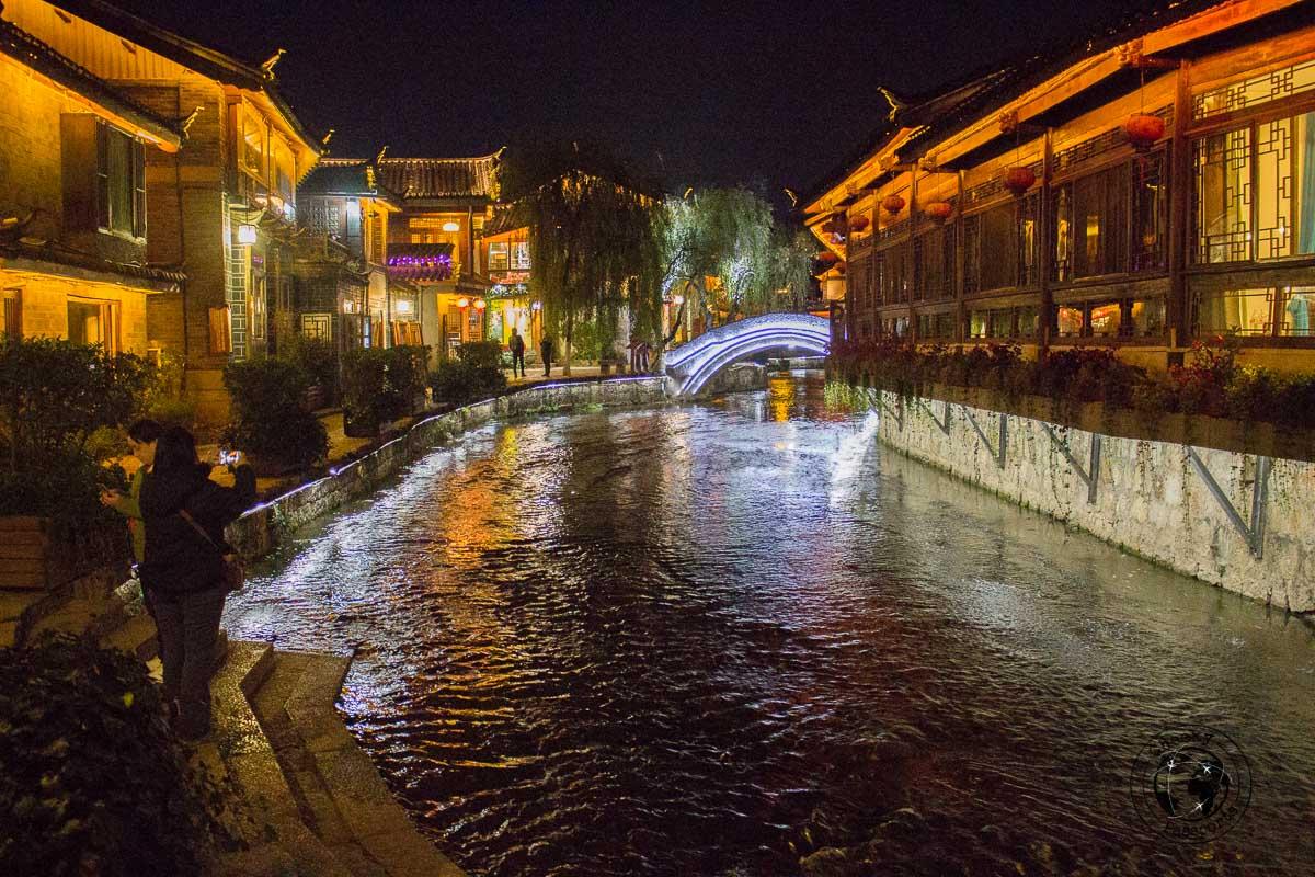 Lijiang at night - Lijiang attractions, Yunnan, China