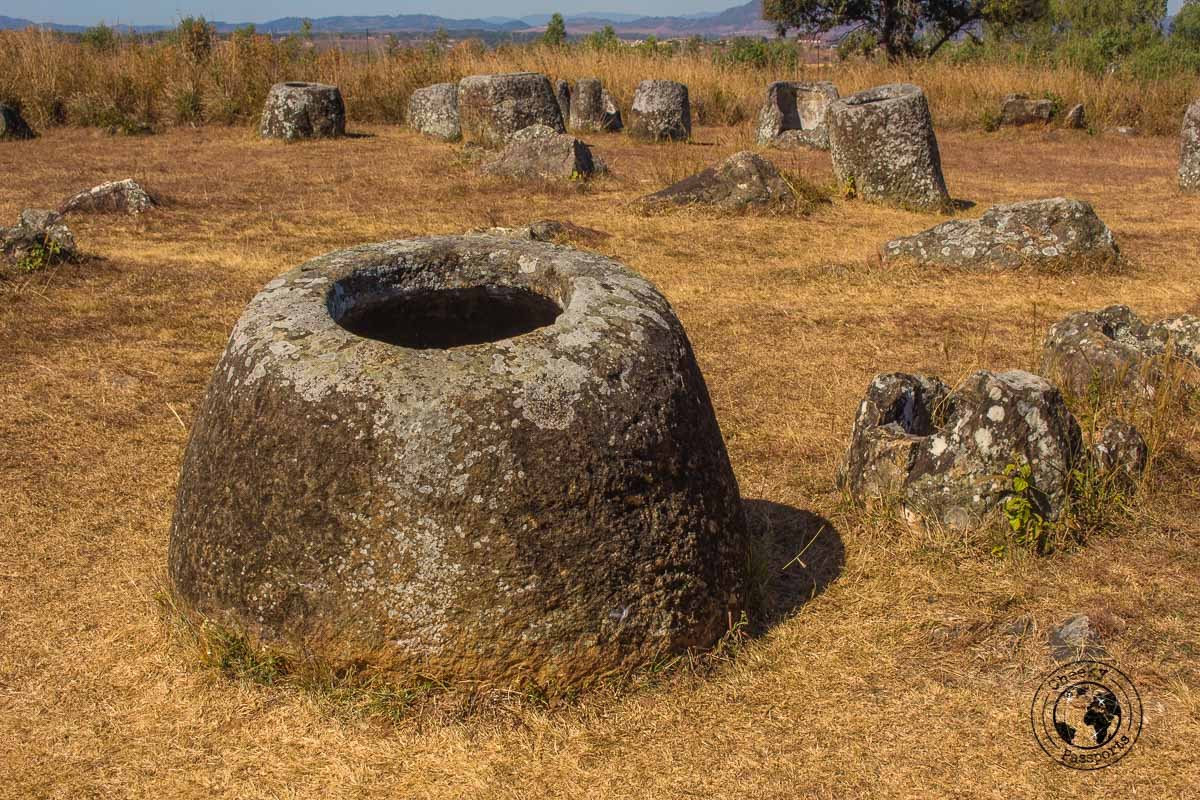 Many jars lining the site in phonsavan - How to visit the Plain of Jars Plain of Jars from Luang Prabang