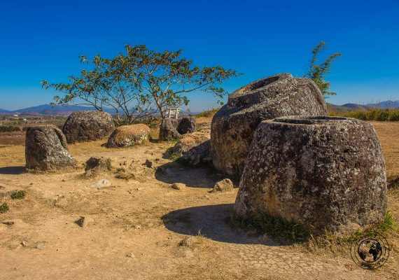 Site 1 of the plain of jars in Laos - How to visit the Plain of Jars in Laos
