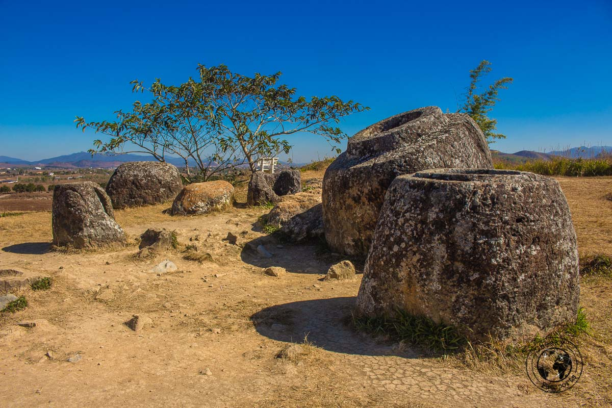 Site 1 of the plain of jars in Laos - How to visit the Plain of Jars from Luang Prabang