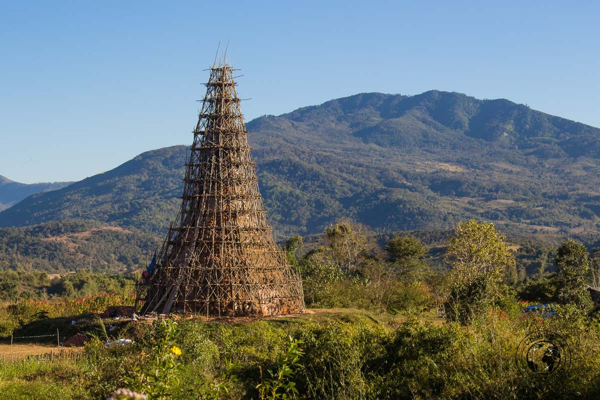 That Foun being restored - How to visit the Plain of Jars from Luang Prabang