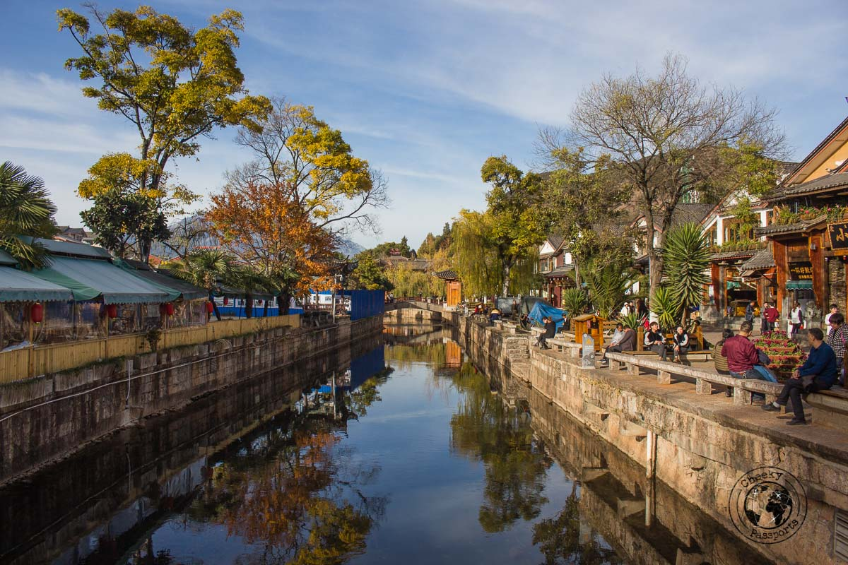 The canals of Lijiang - Lijiang attractions, Yunnan, China
