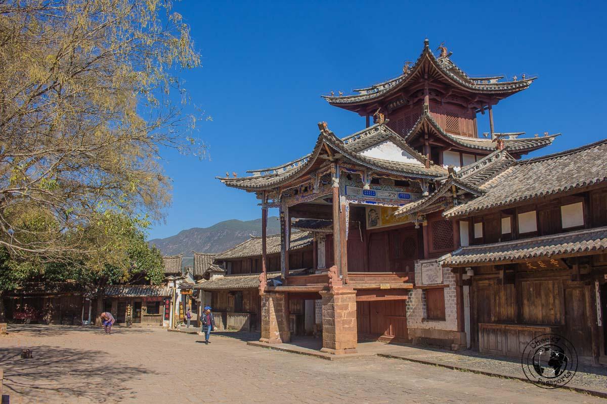 The town square at Shaxi - Lijiang attractions, Yunnan, China