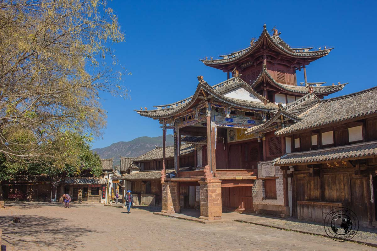 The town square at Shaxi - 10 things to do in Lijiang, Yunnan, China